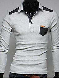 Men's Long Sleeve Polo , Cotton Casual / Sport Pure