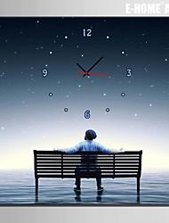 Reloj de pared - Lienzo - Moderno/Contemporáneo - Lienzo