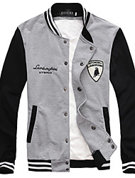 Informell Ständer - Langarm - MEN - Pullover mit / ohne Mützen ( Baumwolle )