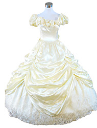 Steampunk®Light Yellow Civil War Southern Belle Ball Gown Dress Victorian Dress Party Dress
