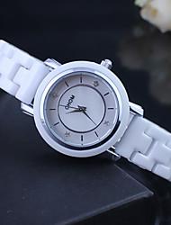 Women's Fashion Watch Quartz Japanese Quartz Ceramic Band White Brand
