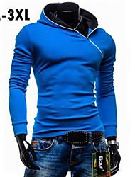 plus la taille noir / bleu / rouge à capuche des hommes& sweat-shirt, manches longues
