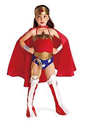 Costumes - Superhéros - Enfant - Halloween - Collant / Casque / Jambières / Cape / Corde