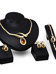 Zircon Crystal Pendant Jewelry Set