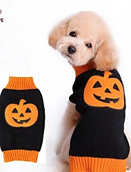 Dog / Cat Coat / Sweater Black / Orange Winter Cartoon Wedding / Cosplay