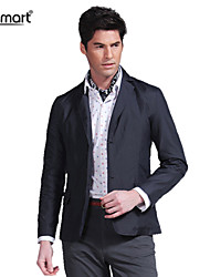 Lesmart Men's Spring Fall Business Casual Coat Easy-care Anti-wrinkle Twill Slim Fit Suit Blazers