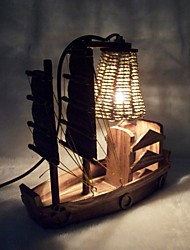 Sailing Home Decoration Wooden Toys Crafts lamp bedroom bedside personalized ornaments