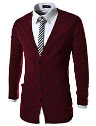 Men's Shirt Collar Sweaters , Cotton / Cotton Blend Long Sleeve Casual Fashion Summer / Spring YTFT