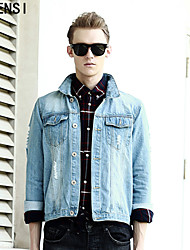 2015 autumn casual denim jacket male Korean fashion Metrosexual jeans jacket denim jacket