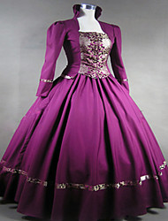 Steampunk®Purple Gothic Victorian Gown Period Dress Theatre Clothing
