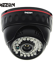 "Tmezon® 700TVL 1/3"" CMOS 36 Leds Night Vision 30m IR Cut Dome Indoor CCTV Security Camera"