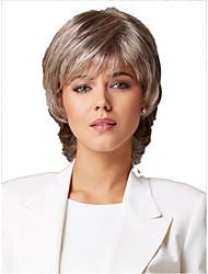 Europeus e americanos moda senhora cabelo sintético perucas naturais