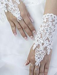 Handschuh Handgelenk-Länge Ohne Finger Spitze Brauthandschuhe