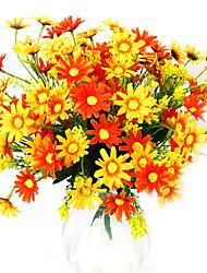 chrysanthème en tissu de soie fleur artificielle pour la décoration (ensemble de 2)