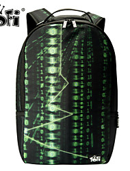 Unisex 's Nylon 15 in Laptop Backpack/Laptop Bag/School Bag/Travel Bag - Green