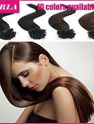 "100pc/lot 20"" Peruvian Hair Extension U Tip  Human Hair Extension 0.5g/strand Straight Nail Hair Extension"