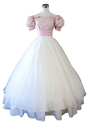 Steampunk®Pink and White Civil War Southern Belle Ball Gown Dress Victorian Dress  Party Dress