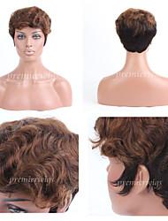 premierwigs double tonalité brésiliens vierges perruques de cheveux humains perruques sans bouchon droites courtes pour les femmes noires