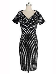 Women's Vintage Polka Dot 1950s Dress