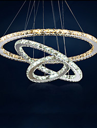 LED Pendant Lamps Amber and Clear K9 Crystal Chandelier Lights Lighting with 3 Ring D806040 CE&UL&FCC