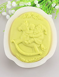 Santa Claus Shaped  Soap Molds Mooncake Mould Fondant Cake Chocolate Silicone Mold, Decoration Tools Bakeware