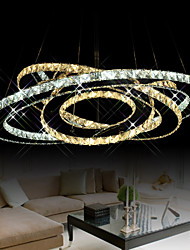 LED Crystal Pendant Lighting Ceiling Chandeliers Light Fixtures with Warm and Cool White 3 rings D305070cm CE UL FCC