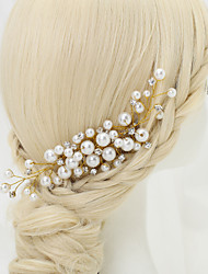 Women's / Flower Girl's Rhinestone / Alloy / Imitation Pearl Headpiece-Wedding / Special Occasion Hair Combs 1 Piece
