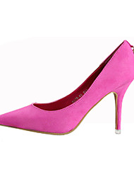 Women's Shoes Suede Stiletto Heel Heels / Spell Color Metallic Suede Shoes Fashion Lady Big Yards Nightclub Stilettos