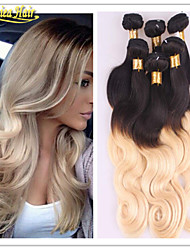 8A Hot Selling Products Brazilian Human Hair Weave Extension 100% Unprocessed Virgin Hair 3 Bundles Ombre 1B/613