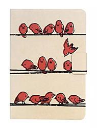 patrón de las aves de rotación funda plana para el mini ipad / mini2 ipad / ipad MINI3
