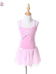 Ballet Tutus & Skirts / Dresses Children's Performance / Training Chiffon / Cotton Bow(s) 1 Piece Pink / Light Yellow