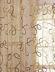 Designer Two Panels Vine  Living Room Poly  Cotton Blend Panel Curtains Drapes