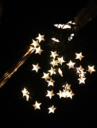 Solar String 6.5M 30LED Lights BlingBling Star Shape String Lights Waterproof Outdoor Lights