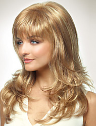 Capless Long Style Women Natural Healthy Hair Wave Girl Curly Blonde Wigs