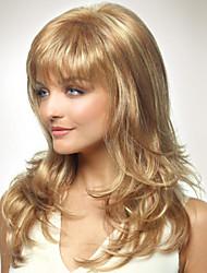 capless longo estilo mulheres menina naturais onda cabelo saudável encaracolados perucas loiras