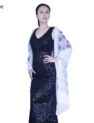 Mouwloos - Shawls / Sjaals ( Polyester , Zwart / Wit / Champagne / Koningsblauw