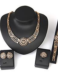 Schmuck 1 Paar Ohrringe 1 Armreif Halsketten Ringe Hochzeit Party Aleación 1 Set Damen Goldfarben Hochzeitsgeschenke
