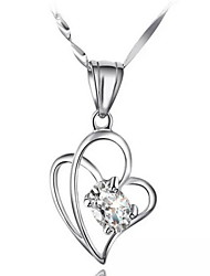 Woman Heart-shaped Sterling Silver Necklace