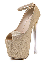 Women's Shoes Glitter Stiletto Heel Peep Toe Platform Comfort Heels Party and Dress More Colors Available