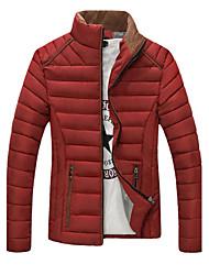 Super men Men's Hoodie Coats & Jackets , Cotton Blend Long Sleeve Casual / Work Fashion Winter / Fall Super men