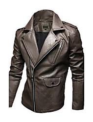 Men Faux Leather Top