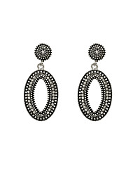Fashion Women Vintage Stone Set Dangle Earrings