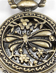 Woman Quartz Small Dragonfly Pocket Watch Cool Watches Unique Watches