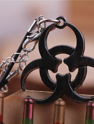 Women Unisex Fashion Jewelry Retro Punk Classic Resident Evil Cosplay Biohazard Mark Pendant Necklaces