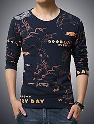 Men's Pegasus Family Name Wind Printed T-Shirt , Cotton/Spandex Casual/Plus Sizes Print