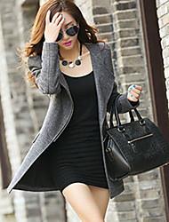 Women's Large Yard Cashmere Wool Coat