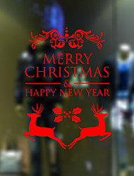 Window Stickers Window Decals Style The New Christmas Deer Window Glass Decoration PVC Window stickers