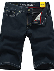 Lesmart Men's Shorts / Jeans / Straight Pants Dark Blue - LW13338