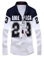 Men's Casual Jordan 23 Printed Shirt , Cotton/Polyester Casual/Plus Sizes Print