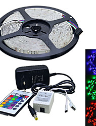 JIAWEN® 5 M 300 3528 SMD RGB Accorciabile / Collagabile 25 W Strisce luminose LED flessibili AC100-240 V